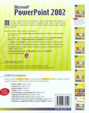 Powerpoint 2002 - 4ème de couverture - Format classique