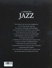 Atlas Du Jazz - 4ème de couverture - Format classique
