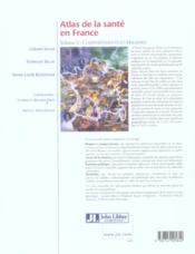 Atlas De La Sante En France. Volume 2 - Comportements Et Maladies - 4ème de couverture - Format classique