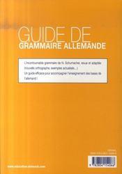 Guide de grammaire allemande (12ème édition) - 4ème de couverture - Format classique