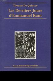 Les derniers jours d'Emmanuel Kant - Couverture - Format classique