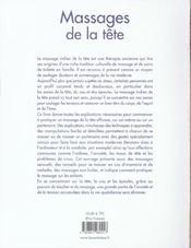 Massages De La Tete - 4ème de couverture - Format classique