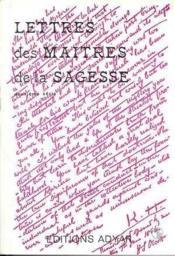 Lettres des maitres de sagesse t.2 - Couverture - Format classique