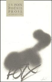 Poésie, prose - Couverture - Format classique