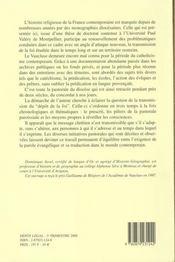 Transmettre La Foi Au Diocese D'Avignon Xixe - Xxe Siecle - 4ème de couverture - Format classique