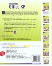 Office Xp - 4ème de couverture - Format classique