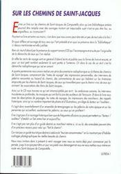 Sur Les Chemins De St-Jacques - Le Livre/Cd De L'Emission Radiophonique - 4ème de couverture - Format classique