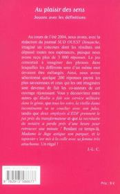 Au Plaisir Des Sens - 4ème de couverture - Format classique