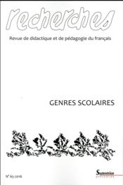 Genres scolaires  - Collectif