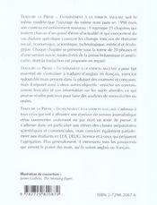 Traduire La Presse Entrainement A La Version Anglaise Nouvelle Edition - 4ème de couverture - Format classique