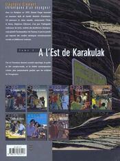 Stephane Clement T.2 ; A L'Est De Karakulak - 4ème de couverture - Format classique