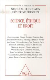 Science, éthique et droit - Couverture - Format classique