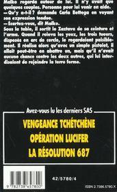 SAS t.124 ; tu tueras ton prochain - 4ème de couverture - Format classique