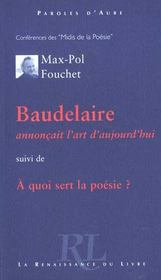 Baudelaire AnnonÇait L'Art D'Aujourd'Hui - Intérieur - Format classique