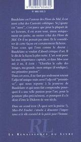 Baudelaire AnnonÇait L'Art D'Aujourd'Hui - 4ème de couverture - Format classique