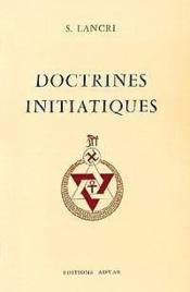 Doctrines Initiatiques - Couverture - Format classique