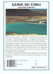 Le Chili - 4ème de couverture - Format classique