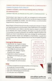 Le guide de la communication sans risque ; enjeux juridiques, prévention de crises, gestion de risques, clés et préconisations - 4ème de couverture - Format classique