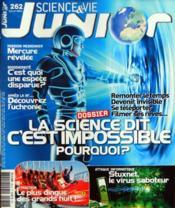 Science Et Vie Junior N°262 du 01/07/2011 - Couverture - Format classique