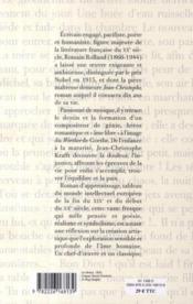 Jean-Christophe - 4ème de couverture - Format classique