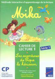 Mika Cp Serie 1 Cahier 1 - Intérieur - Format classique