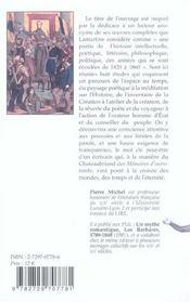 Lamartine. reconnaissance et memoire - 4ème de couverture - Format classique