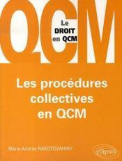 Les procédures collectives en qcm - Intérieur - Format classique