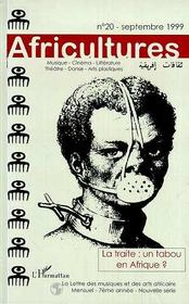 Revue Africultures N.20 ; La Traité Un Tabou En Afrique - Couverture - Format classique