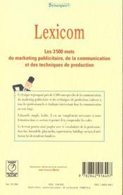 Lexicom - 4ème de couverture - Format classique
