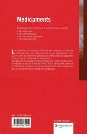 Médicaments (3e édition) - 4ème de couverture - Format classique