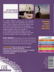 Vente  Kit de survie anti-pollution  - Sioux Berger