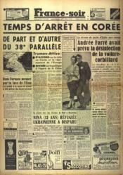 France Soir Derniere Edition N°1979 du 09/12/1950 - Couverture - Format classique