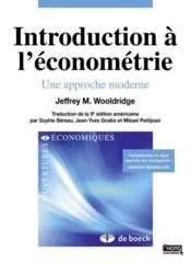 Introduction à l'économétrie une approche moderne - Couverture - Format classique