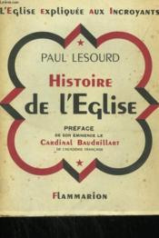 Histoire De L'Eglise. - Couverture - Format classique