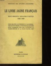 Le Livre Jaune Francais - Documents Diplomatiques 1938-1939 - Couverture - Format classique