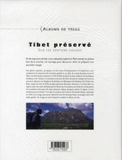 Tibet préservé ; sur les sentiers goloks - 4ème de couverture - Format classique