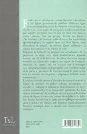 La Syllepse. Figure Stylistique - 4ème de couverture - Format classique