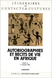 Autobiographies et récits de vie en Afrique - Couverture - Format classique