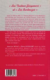 Les tontons flingueurs et les barbouzes - 4ème de couverture - Format classique
