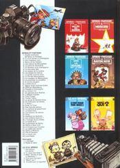 Spirou et Fantasio t.40 ; la frousse aux trousses - 4ème de couverture - Format classique
