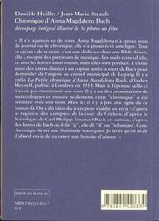 Chronique D'Anna Magdalena Bach - 4ème de couverture - Format classique