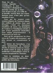 Les Berserkers I Livres I A Iv - 4ème de couverture - Format classique