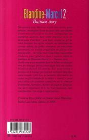 Blandine Marcel T.2 ; Business Story - 4ème de couverture - Format classique