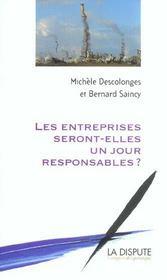 Les Entreprises Seront-Elles Un Jour Responsables - Intérieur - Format classique