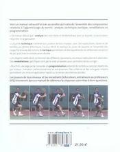 Les fondamentaux du tennis ; analyse, technique, tactique, programmation - 4ème de couverture - Format classique