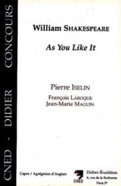 William shakespeare, as you like it - Couverture - Format classique