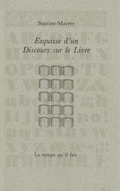 Esquisse discours sur le livre - Intérieur - Format classique