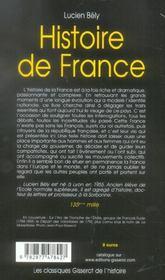 Histoire De France (Classique Gisserot De L'Histoire) - 4ème de couverture - Format classique