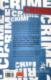 Crime - 4ème de couverture - Format classique