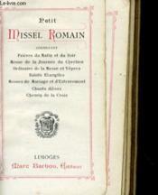 Petit Missel Romain N°11bis - Couverture - Format classique